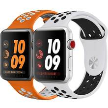 40mm 44mm Watch strap for NIKE+ Apple watch band iWatch series 4/3/2/1 strap with Light Flexible Breathable 38mm 42mm Watchband